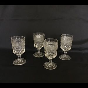 Set of 4 Anchor Hocking Wexford Wine Glasses